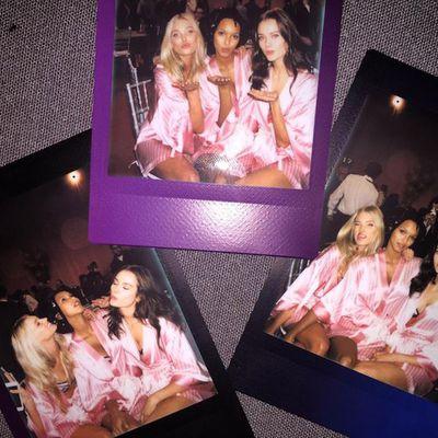 Elsa Hosk and co.'s BTS polaroids.