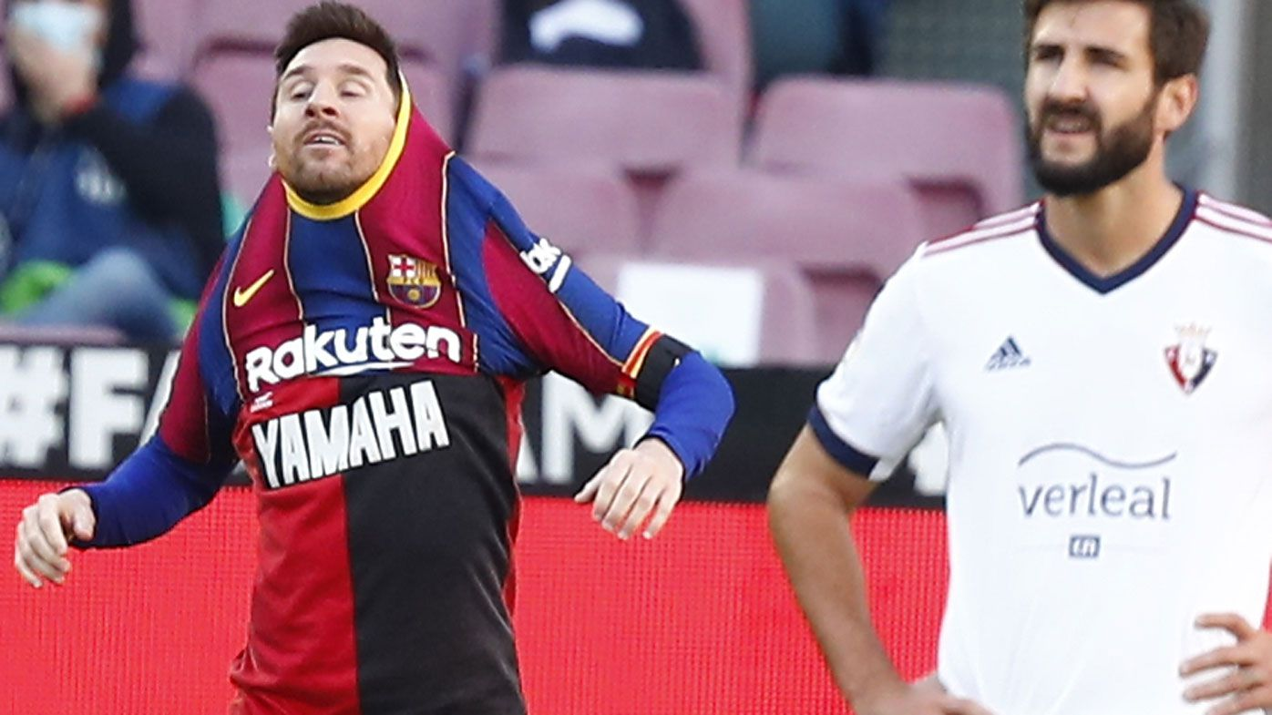 Lionel Messi and Barcelona fined over star's tribute to late icon Diego Maradona