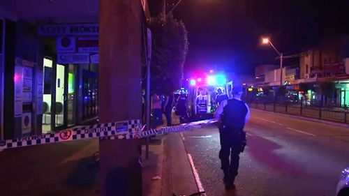 Police were called to a footpath outside a Rockdale bar after a man was injured in a fight. (9NEWS)