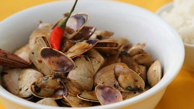 Pipis in black bean sauce