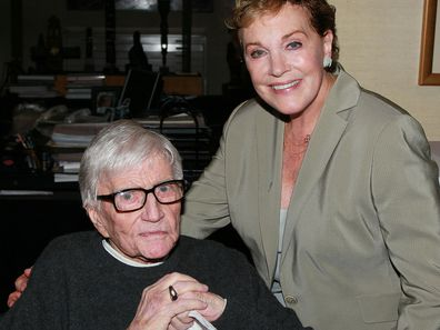 Artist/director Blake Edwards (L) and wife actress Julie Andrews in 2010.