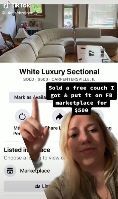 Now she is kicking herself for not having researched the value of the couch before selling it.