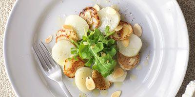 Scallop & Jerusalem artichoke salad