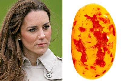 25-year-old Wesley Hosie found this '<b>Kate Middleton</b>' jelly bean while digging in to a bag of the lollies with his girlfriend. It created a royal hooh-ha and went up for auction on e-bay for nearly $800!