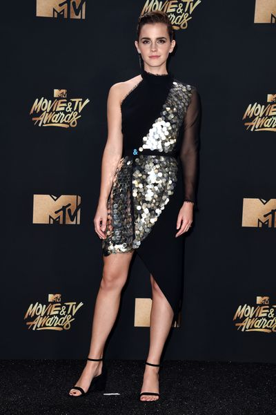 Emma Watson in Australian eco-luxury brand Kitx at the 2017 MTV Movie And TV Awards in Los Angeles, May, 2017