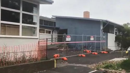 Buildings at Bonbeach Primary School were damaged by a storm in October. (9NEWS)
