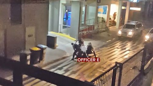 Officer E, who was filmed striking the boy repeatedly with a baton, testified on Thursday.