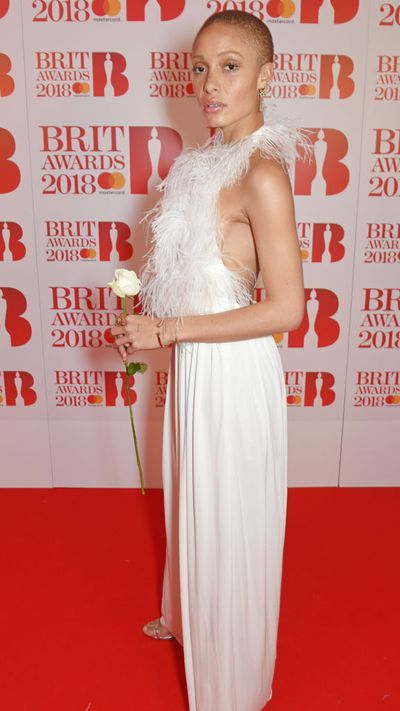 Adwoa Aboah in Sonia Rykiel at the 2018 Brit Awards