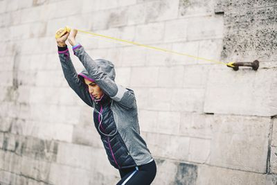 <strong>Banded tricep pullover</strong>