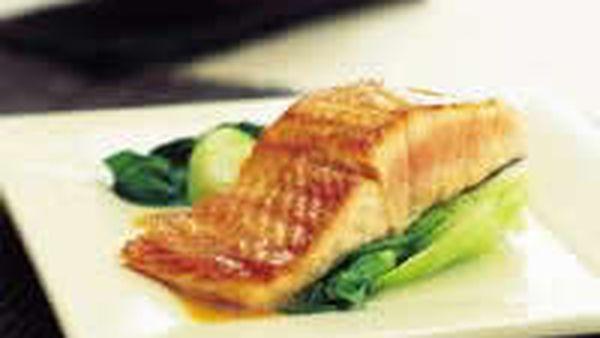 Salmon with teriyaki butter