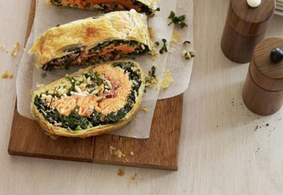 Spinach, ocean trout and risoni pie