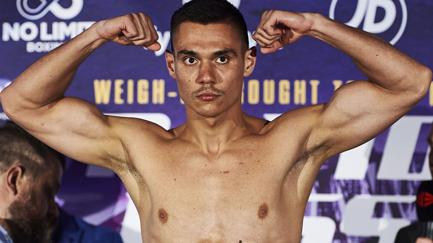 Tim Tszyu vs Dennis Hogan fight official as boxing rivals make weight in Newcastle