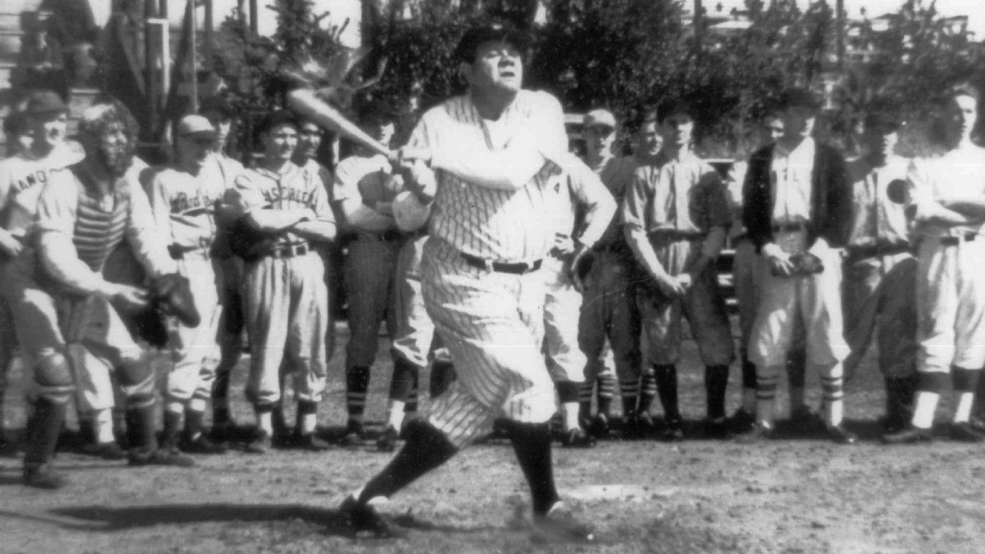 095fe4c729c Babe Ruth at a baseball exhibition for school students in the 1930s. (AP)