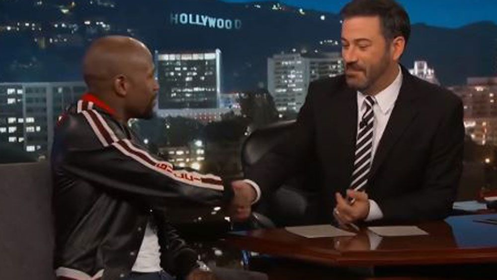 Floyd Mayweather and Jimmy Kimmel make a deal on Jimmy Kimmel Live.