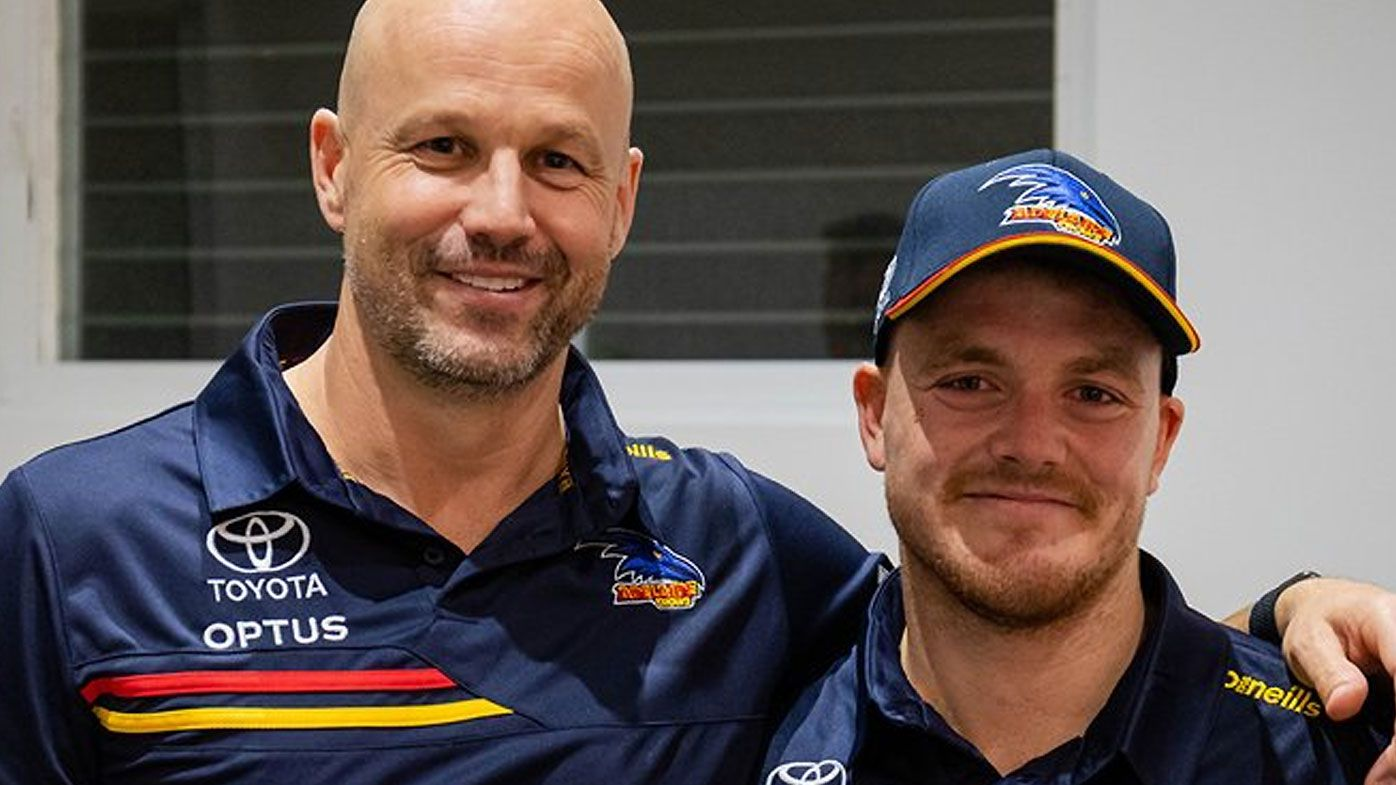 'It was his dream': Crows draftee James Rowe's father breaks down on radio recalling selection
