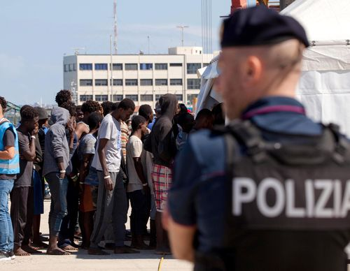 More than 600 migrants are stranded as entry into Italy is refused. Image: AAP