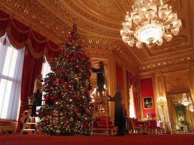 Windsor Castle Christmas decorations 2019