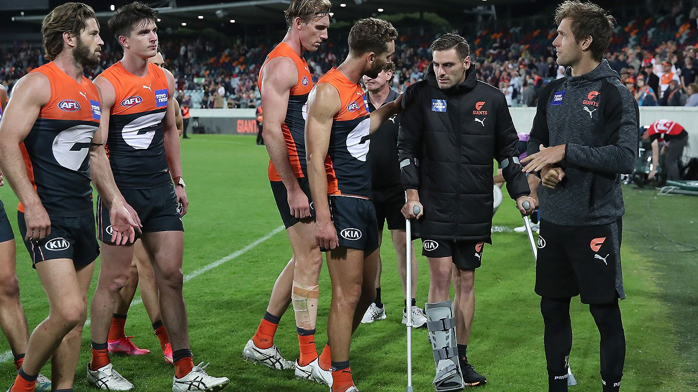 Stephen Coniglio's ankle injury adds to winless GWS Giants' woes