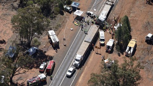 Two people died at the scene. (Supplied)