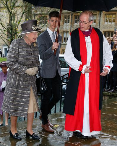 Reverend Welby, pictured with Queen Elizabeth, has officiated keen royal events including weddings and baptisms.