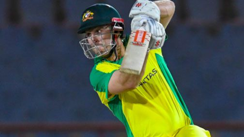 Mitchell Marsh plays a shot on the way to his half century.