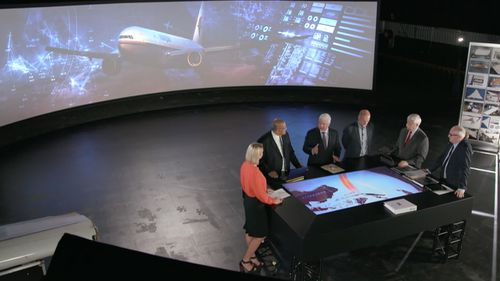 Tara Brown meets with experts in the Situation Room. Picture: 60 Minutes