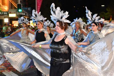 The parade featured an array of dancers. (AAP)