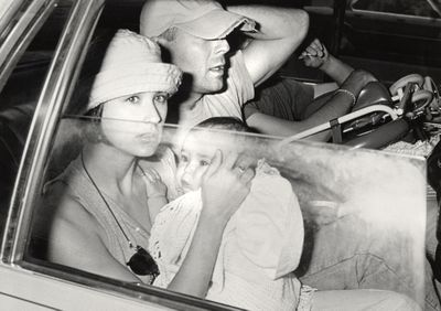 Then: Demi Moore with baby Rumer and husband Bruce Willis in 1989 in New York.