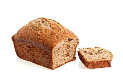 Banana bread: 5.5 teaspoons of sugar
