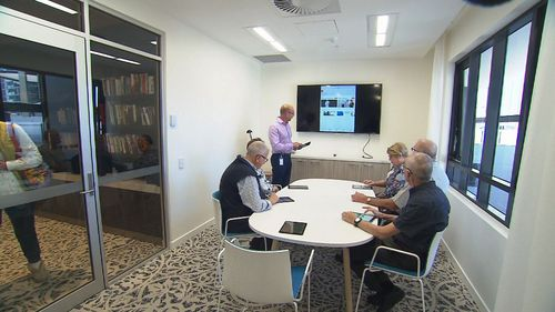 Seniors can learn how to use smart phones, televisions, tablets and even Google Home. Image: 9News