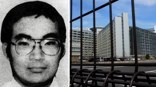 Former Aum Shinrikyo cult member Masato Yokoyama who was sentenced to death in 1999. Right: Tokyo Detention Centre. (Photos: AP).