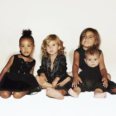 North West, Penelope, Mason, and Reign Disick