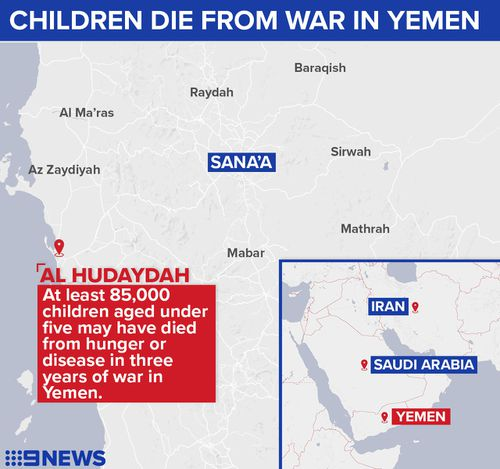At least 85,000 malnourished Yemeni children may have died in the last three years.