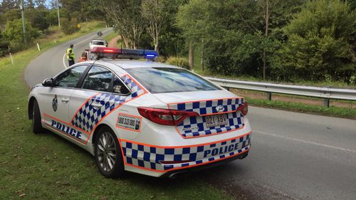 A male cyclist died in a crash on Mount Nebo.