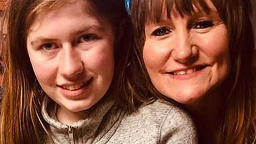 Jayme Closs with an unidentified woman.