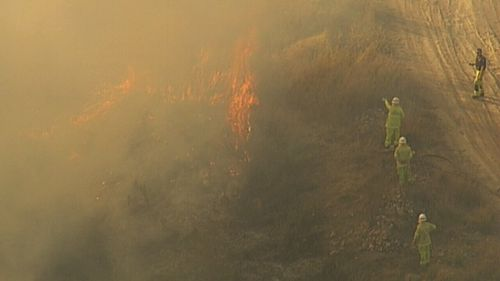 Fire crews are keeping a close eye on the fires as they head into the windier weekend conditions.