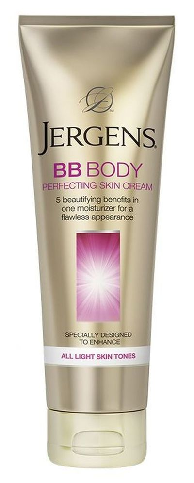 "<p><strong>Body Moisturiser </strong></p> <p><a href=""https://www.priceline.com.au/jergens-bb-body-perfecting-skin-cream-medium-to-deep-221-ml"" target=""_blank"" draggable=""false"">Jergens BB Body Perfecting Skin Cream Medium to Deep, $14.99 </a></p>"