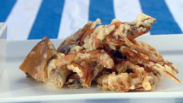 Tempura softshell crab with lime & fish sauce dressing