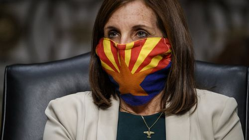 Martha McSally, who is one of the most endangered incumbent senators, is pushing for hundreds of millions in military spending for her state of Arizona.