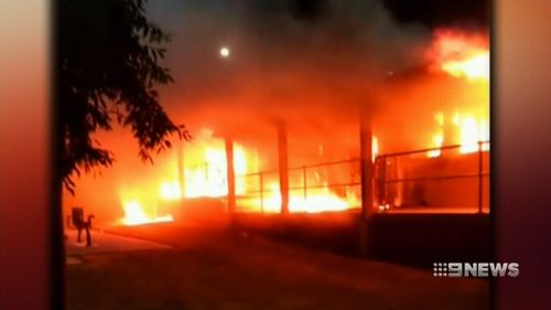 Up to 29 building were set alight.