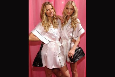 Aussie Jessica Hart and Elsa Hosk backstage at the show