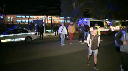 Police believe the man may have been vandalising a stationary train before the accident. (9NEWS)