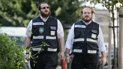 The 25-man Shomrim play a role in protecting Stamford Hill's large Muslim community. (Getty)