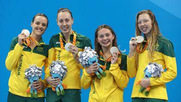 Ellie Cole, Madeleine Scott, Maddison Elliott and Lakeisha Patterson have claimed gold. (Getty)