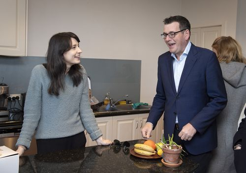 """""""It's about making a rental property your home"""": Mr Andrews said this morning. Picture: AAP"""