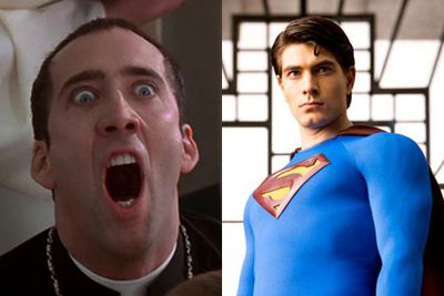 This has got to be the weirdest of them all.<br/><br/>Warner Bros almost gave Tim Burton a shot at revamping the <i>Superman</i> franchise with the title <i>Superman Lives</i>. <br/><br/>He wanted Nicolas Cage to play the Man of Steel…seriously?! Thankfully this idea was dumped in a Hollywood landfill.<br/><br/>Left: Nicolas Cage in <i>Face Off</i> / Paramount. Right: Brandon Routh in <i>Superman Returns</i> / Warner Bros