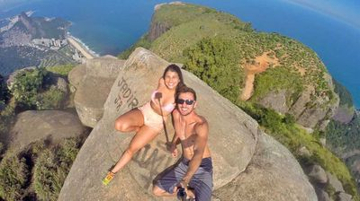 The pair's other adventures include rappelling down a 70m building, hiking to the top of the 3000m mountain Pico da Bandeira, and, of course, dangling off the edge of Pedra da Gavea — one of the highest mountains in the world that juts above an ocean.