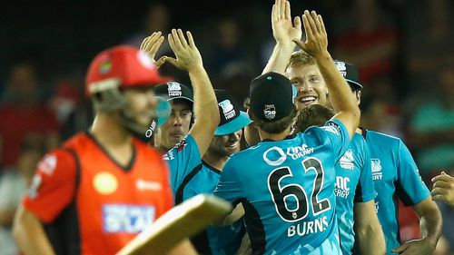 Melbourne Renegades skittle Heat at home in Big Bash League