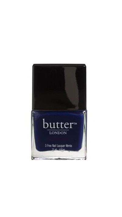 "<a href=""http://www.adorebeauty.com.au/nail-polish/butter-london-nail-lacquer-royal-navy.html"" target=""_blank"">Nail Polish in Royal Navy, $22, Butter London</a>"