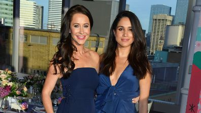 Jessica Mulroney and actress Meghan Markle attends the Instagram Dinner held at the MARS Discovery District on May 31, 2016.